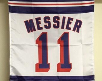New York Rangers Retirement Banners Leetch Graves Messier Richter Flag