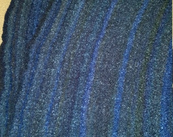 Mixed Blue Shawl