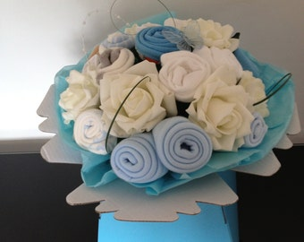 Beautiful Baby Clothes Bouquet / Baby Boy / Baby Shower Gift