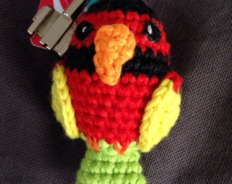 little bird, keyrings, Amigurumi Keychain