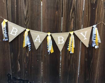 Baby Banner, Baby, Burlap Baby, Rustic Baby Banner, Fall Babt Banner, Burlap Banner, Photo Prop, Maternity Photo Shoot,