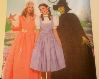 Halloween Dorothy costume, wizard of oz costumes, glinda good witch, oz wicked witch pattern, wicked witch of the west