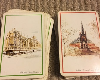 Vintage Harrod's Double Deck Playing Cards