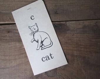 Phonics Flashcard Sight Word Vintage Flashcard Cat