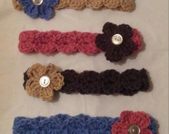 Crochet Headband w. Flower