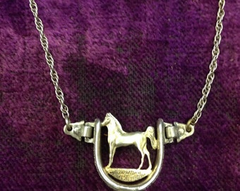 Sterling Silver Western Horse Tie Clasp Clip Holland San Angelo Texas