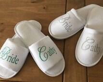 Personalised Slippers , Wedding