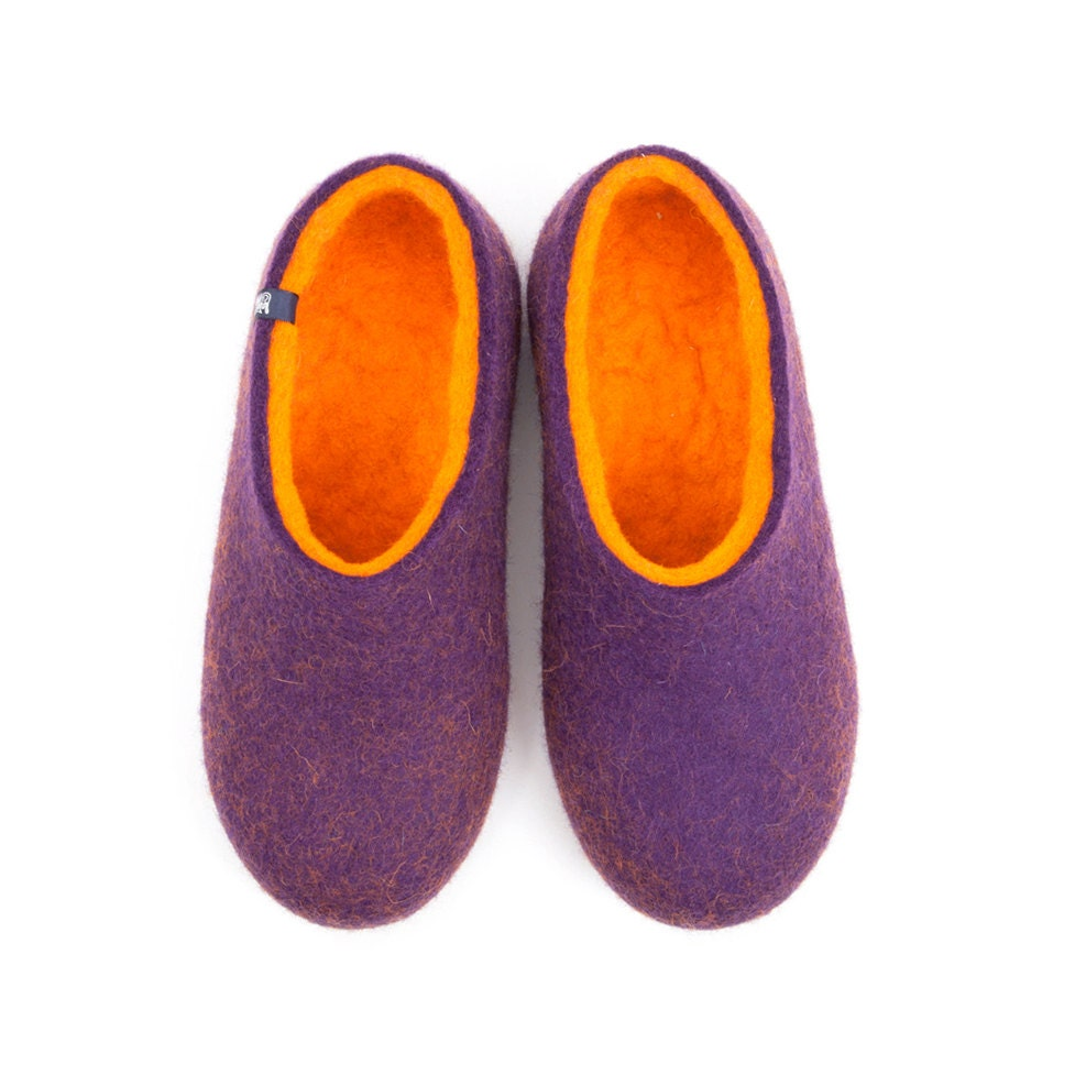 Ooak slippers womens felt slippers bedroom slippers unique for Minimalist house slippers