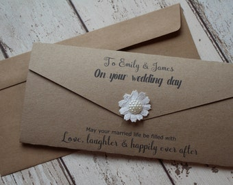 Cash Wedding Gift Calculator Uk : Money envelope Etsy UK