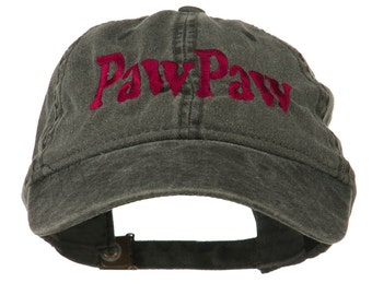 Wording of PawPaw Embroidered Washed Cap