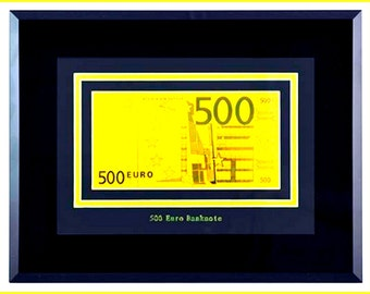 A painting of the banknotes of 500 Euro