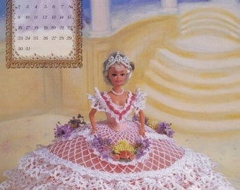 Miss August 1998 The Wedding Ballgowns, Annie Potter Fashion Doll Clothes Crochet Pattern Booklet