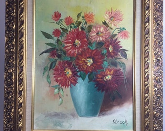 Oringal signed lngeborg Slezak oil painting 2 of 2