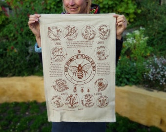 Educational Tea Towels - Flowers for the Honey Bee!