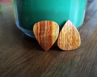 DiCiaccio South American Canarywood Handmade Wood Guitar Pick, gifts for guitarists, gift