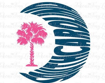 South Carolina Crescent Moon Design (.svg/.eps/.pdf/.dxf/.png)