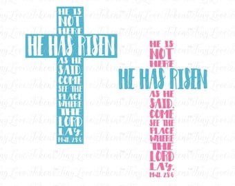 He Has Risen SVG Design for Silhouette and other craft cutters (.svg/.dxf/.eps/.pdf)