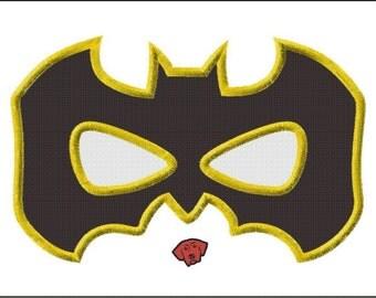 Batman Mask Applique Design in 7 sizes