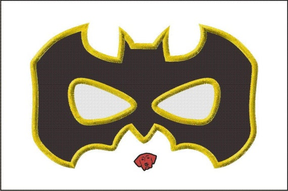 Batman Mask Embroidery Design