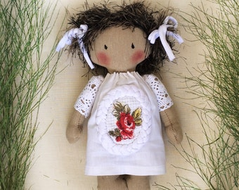 "sweet cloth doll ""Masha"" OOAK"