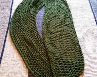 Soft Green Infinity Scarf