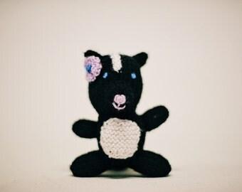 Knit Skunk Stuffed Animal