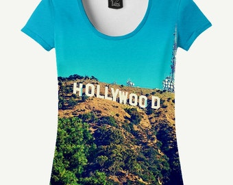 Hollywood T-shirt, Hollywood Shirt, Women's T-shirt, Women's Shirt