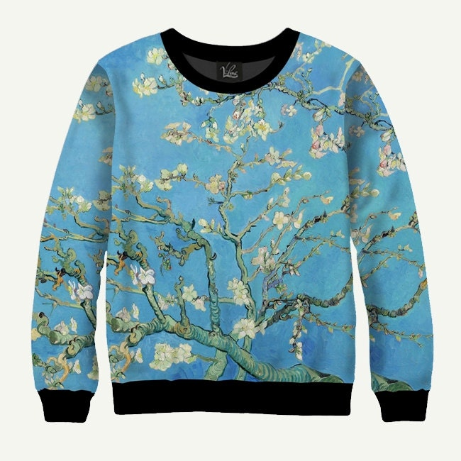 mandelbl te von vincent van gogh herren damen sweatshirt. Black Bedroom Furniture Sets. Home Design Ideas