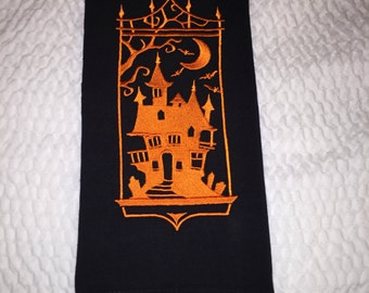 Kitchen Towel - Halloween Haunted House