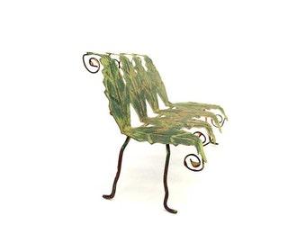 Fairy garden accessories, bench, leaf bench, miniature bench, miniature garden, dollhouse miniature, pixie bench, fantasy