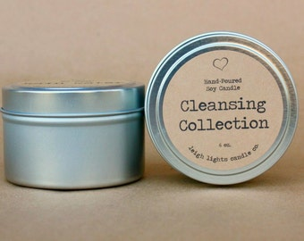 6 oz. Travel Tin | Soy Candle | Cleansing Collection | CHOOSE YOUR SCENT