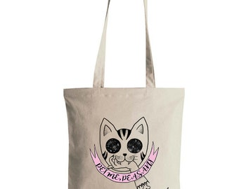 Demon Kitty Tote Bag