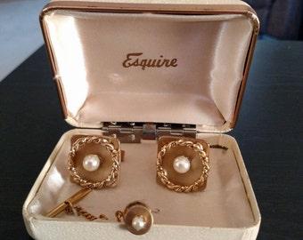Vintage Esquire Cufflink Set