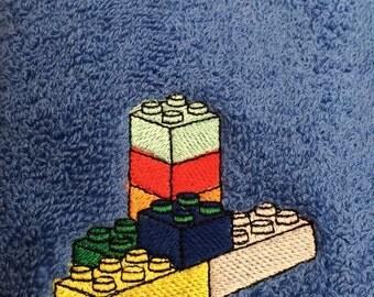 Personlised Building brick towel