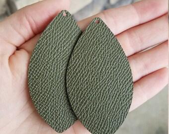 Leather earrings, statement earrings