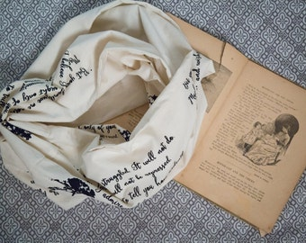 Pride and Prejudice Scarf - Jane Austen