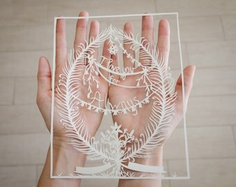 I Love You Original Papercut Personalize