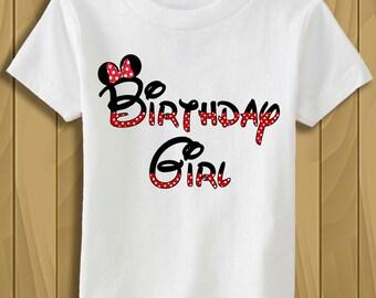 Tshirt Disney Minnie Mouse ears, Birthday Girl Shirt Personalized Minnie Mouse party shirt, Birthday Shirt