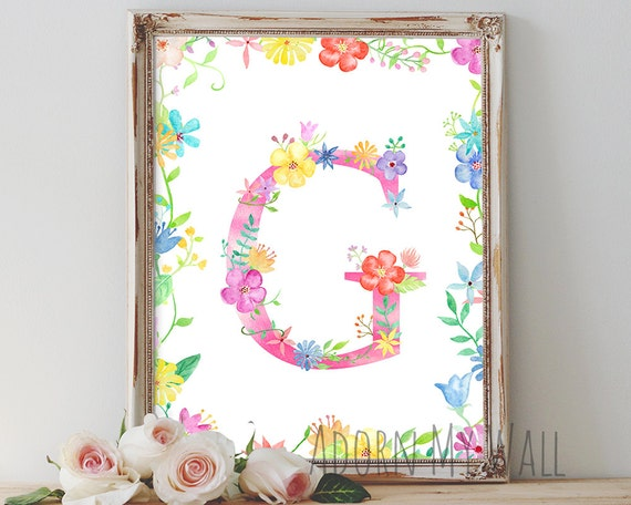 Items similar to letter g wall art instant download for Letter g wall decor