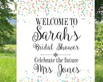 Bridal Shower Decor, DIY Wedding Sign, Printable Sign, Wedding Printables, Confetti Bridal Sign, Welcome Sign