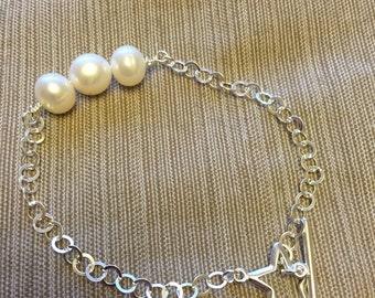 925 Sterling Silver Freshwater Cultured Pearl Bracelet