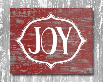 Christmas Art Print, Christmas printable, Christmas instant download, Joy art print, rustic christmas art print, holiday art print