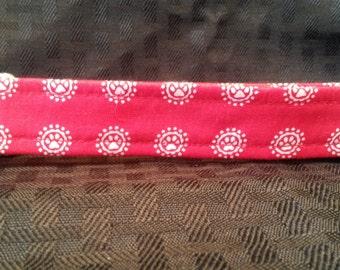 RED W/WHITE PAWS Greyhound Tag Collar #220