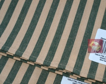 Lot 2 New Dunroven House Tea Towel Country Stripe Green/Teadye
