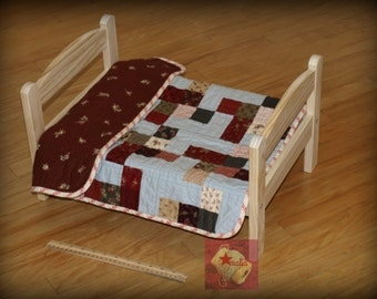 New Handmade in the USA, Doll Quilt, Centerpiece, Table Topper
