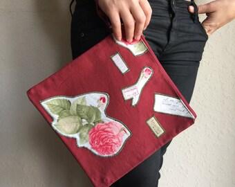 roses bag/fold over clutch