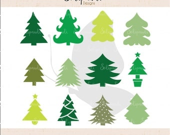 Christmas Tree Bundle - SVG and DXF Cut Files - for Cricut, Silhouette, Die Cut Machines // scrapbooking // paper crafts // solipandi //#115