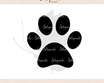 Dog Paw SVG and DXF Cut Files - for Cricut, Silhouette, Die Cut Machines // scrapbooking // paper crafts // solipandi // #167