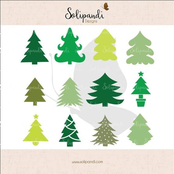 Download Christmas Tree Bundle SVG and DXF Cut Files for Cricut