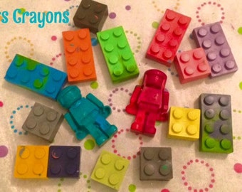 Lego and Robot Crayon Set